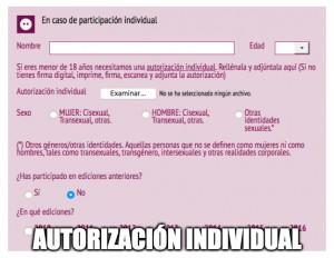 autorización individual