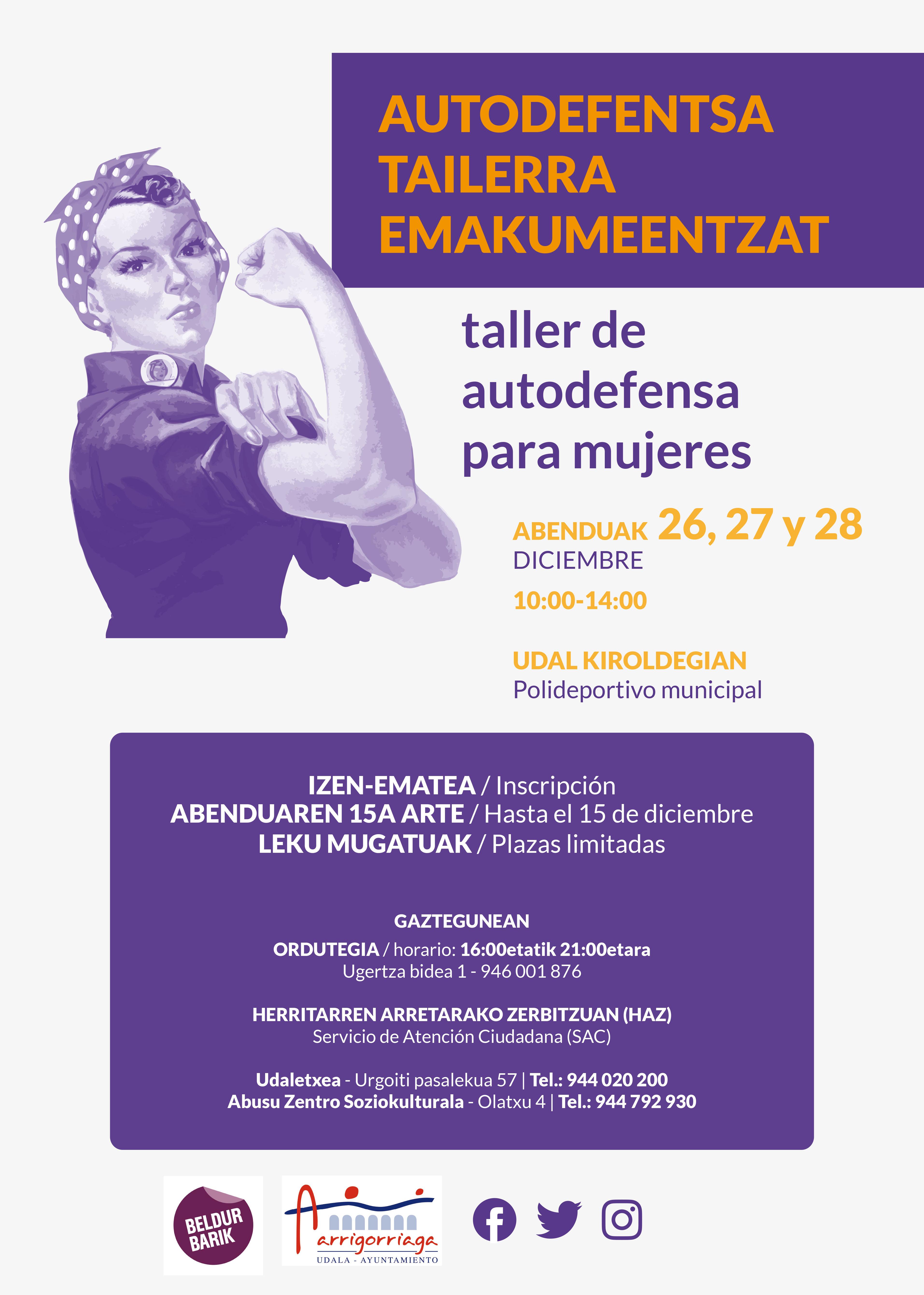 TALLER DE AUTODEFENSA FEMINISTA EN ARRIGORRIAGA