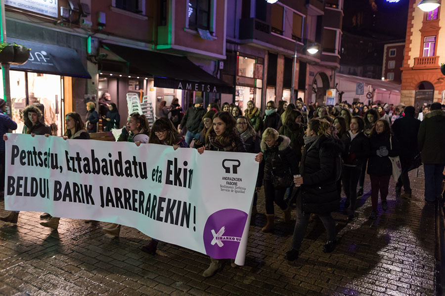 Beldur Barik jarrera manifestazioa