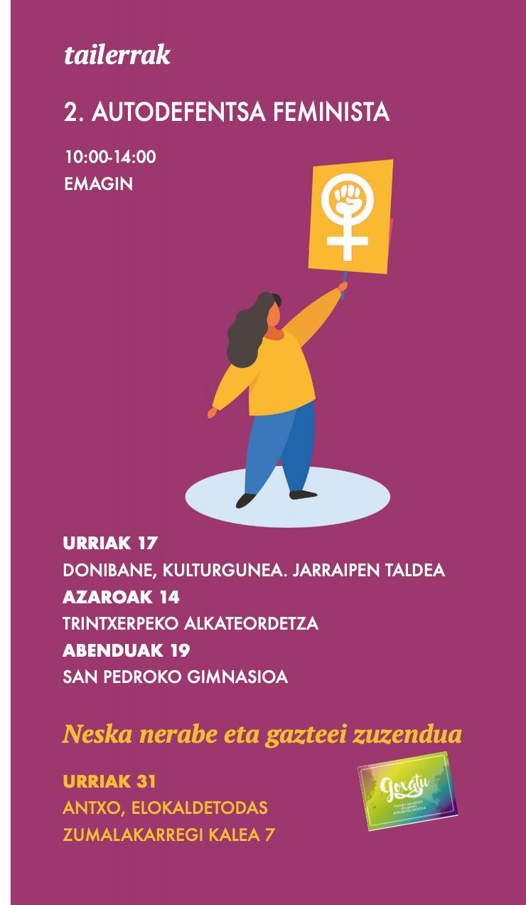 Talleres de Autodefensa Feminista en PASAIA