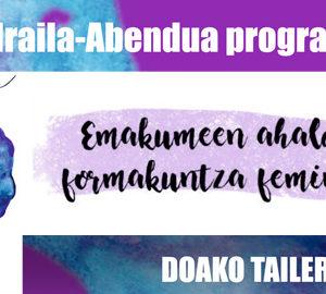 RAP FEMINISTA TAILERRA (16-35 urteko gazteei zuzendua. Mistoa)