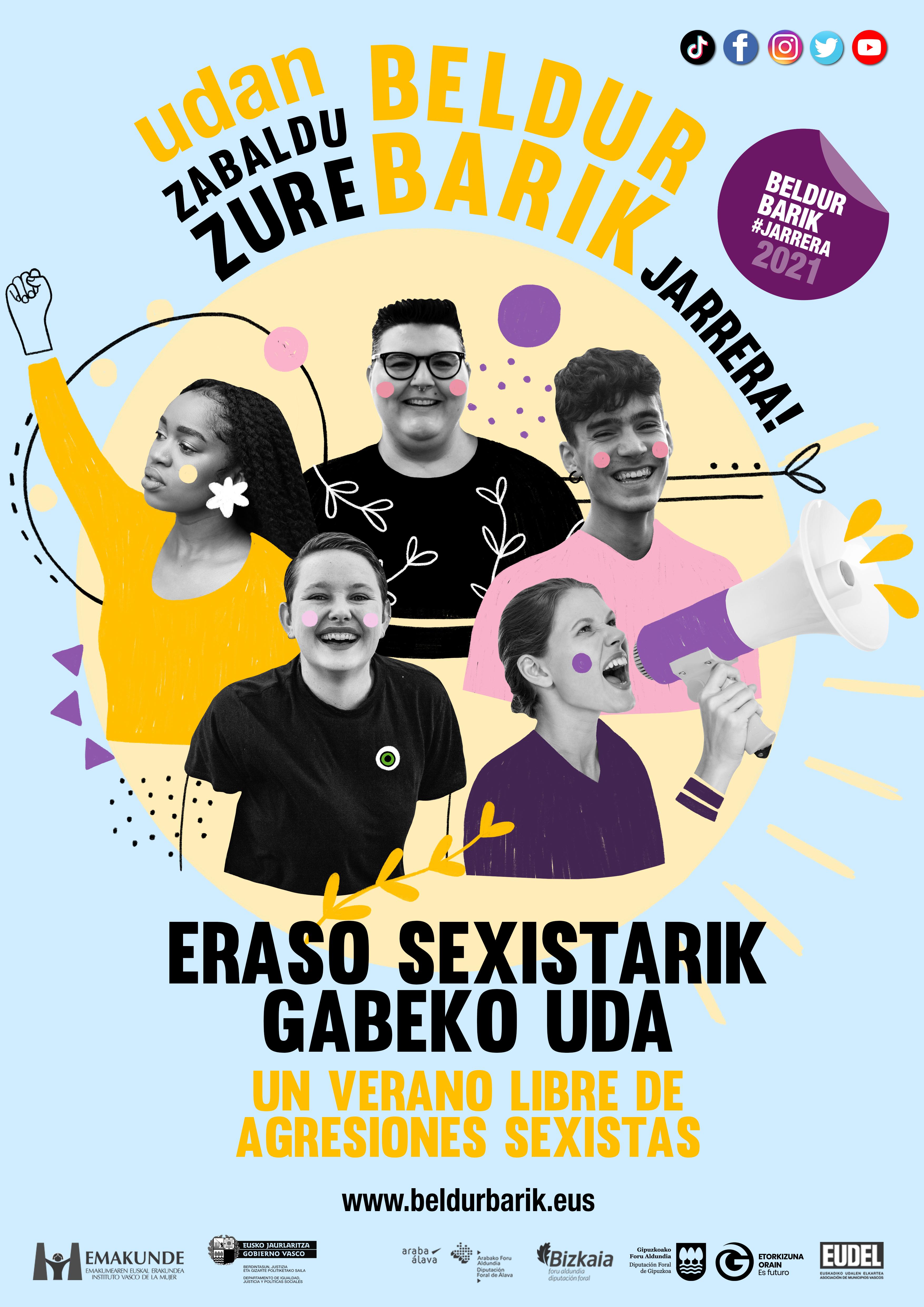 Eraso Sexistarik Gabeko Uda 2021, kartela.